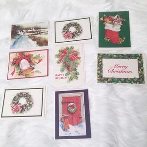 Bundle lot of eight (8) Christmas holiday cards